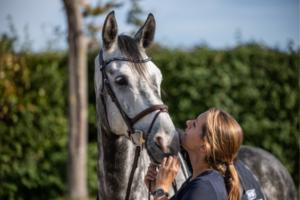 Horse bit woman